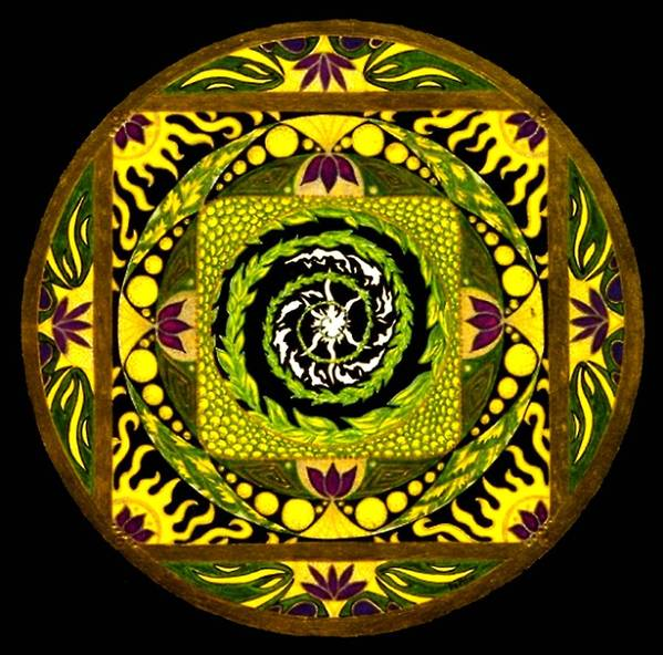 Mandala Art Print featuring the painting Enter The Garden by Pam Ellis