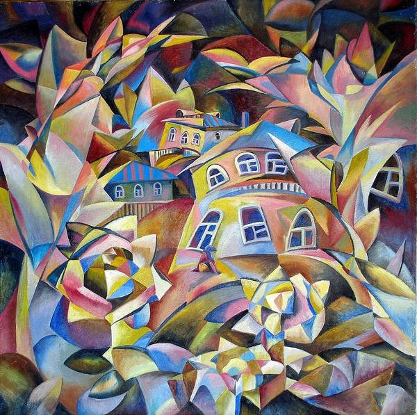Houses Art Print featuring the painting Evening Fragrance by Andrey Soldatenko