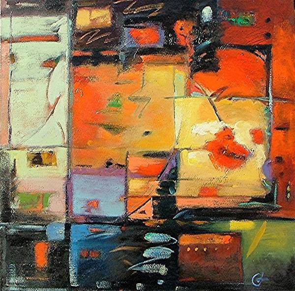 Abstract Painting Art Print featuring the painting Evening Light by Gary Coleman