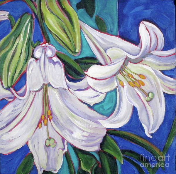 Lily Art Print featuring the painting Faith Lily One by Dawn Thrasher