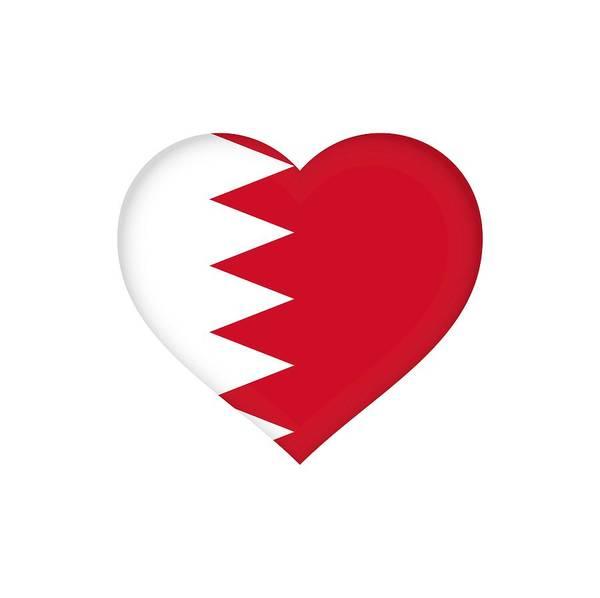 Bahrain Art Print featuring the photograph Flag Of Bahrain Heart by Roy Pedersen