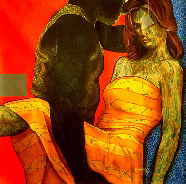 Contemporary Art Print featuring the painting Floating Fantancy by Bharat Gothwal