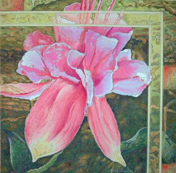 Flower Art Print featuring the painting Fucshia by Robynne Hardison