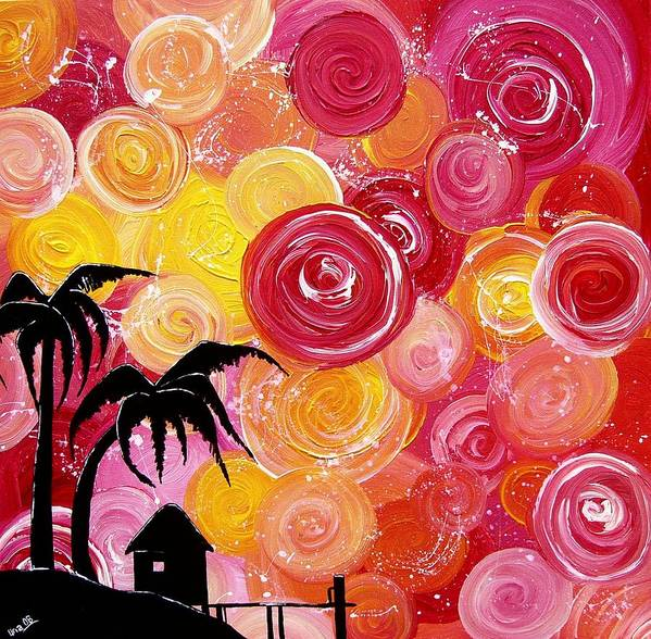 Tropical Art Print featuring the painting Getaway by Una Miller