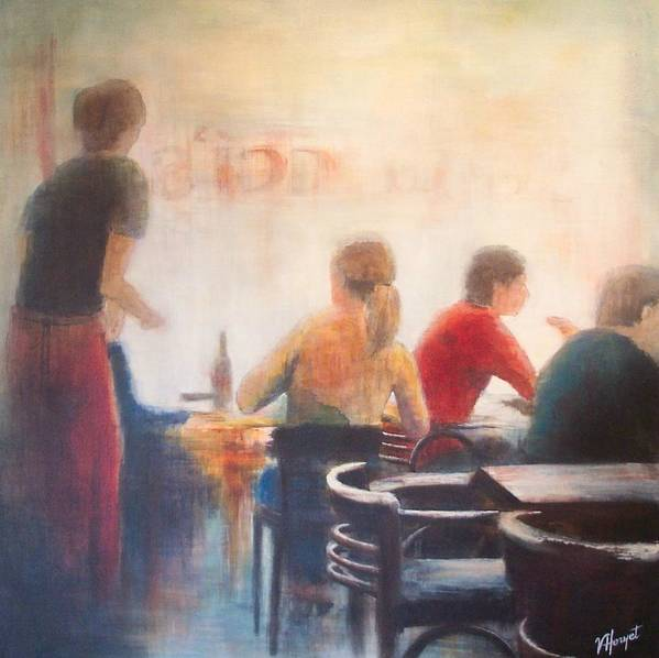 Restaurant Art Print featuring the painting Good Company by Victoria Heryet