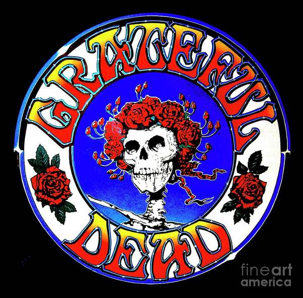 Pd: Reproduction Art Print featuring the painting Grateful Dead Logo by Pg Reproductions