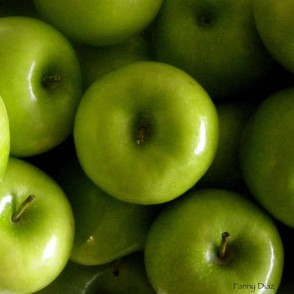 Green Art Print featuring the photograph Green Apples by Fanny Diaz