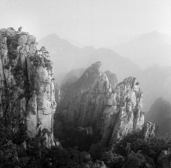 Horizontal Art Print featuring the photograph Huangshan Peaks by Vincent Boreux Photography