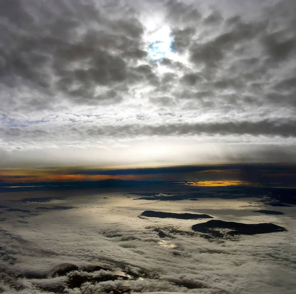 Landscape Art Print featuring the photograph Islands In The Clouds by Mary Lane