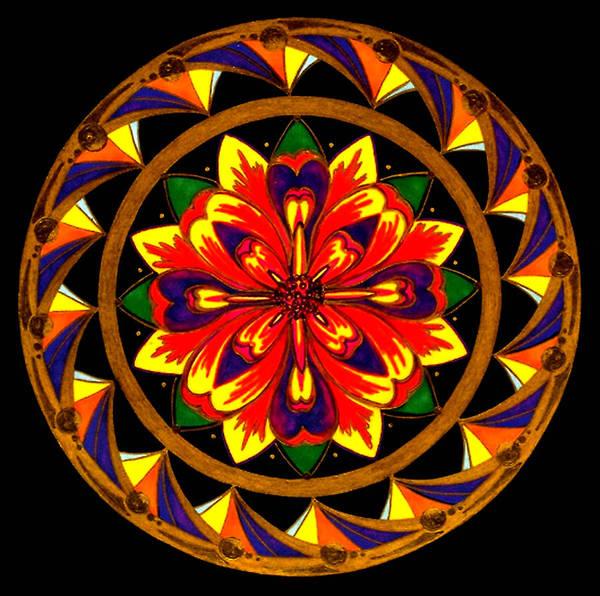 Mandala Art Print featuring the painting JOY by Pam Ellis