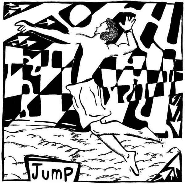 Jump Art Print featuring the drawing Jump Maze by Yonatan Frimer Maze Artist