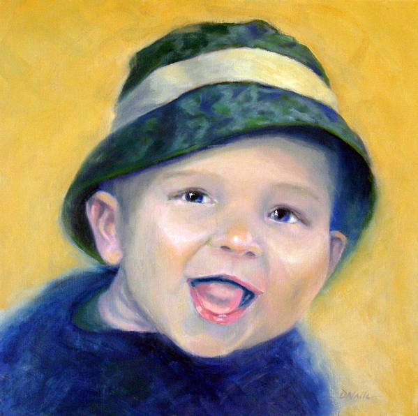 Baby Art Print featuring the painting Little E by Dorothy Nalls