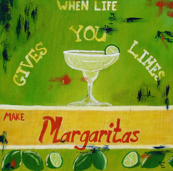 Margaritas Art Print featuring the painting Margaritas by Amanda Clark