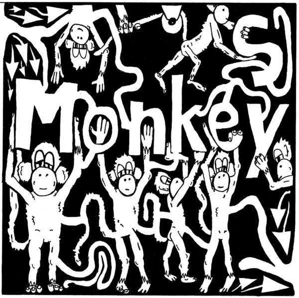 Monkey Art Print featuring the drawing Monkeys Maze For M by Yonatan Frimer Maze Artist