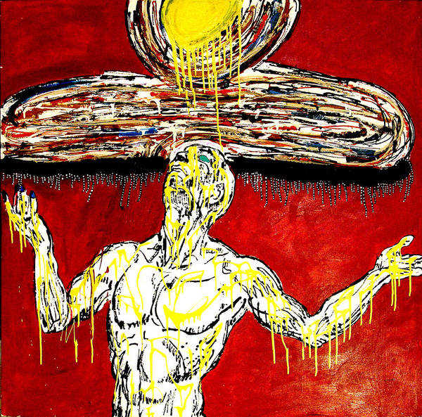 Jay Lonewolf Art Print featuring the painting Mystic Umbrella by Jay Lonewolf