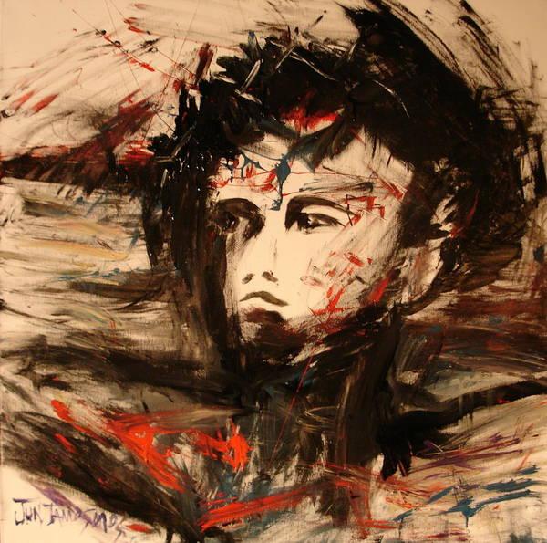 Jesus Art Print featuring the painting On The Cross by Jun Jamosmos