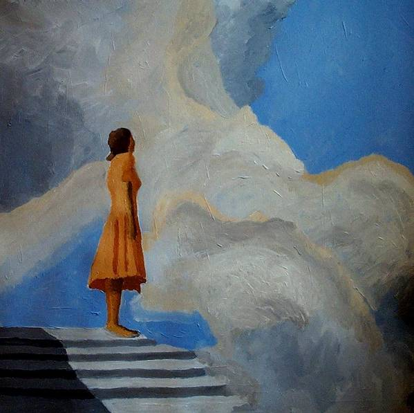Air Art Print featuring the painting On The Highest Step by Mats Eriksson