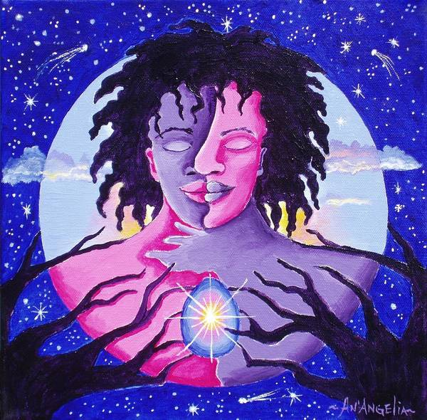 Spiritual Art Print featuring the painting People Are Changing by AnAngelia Thompson