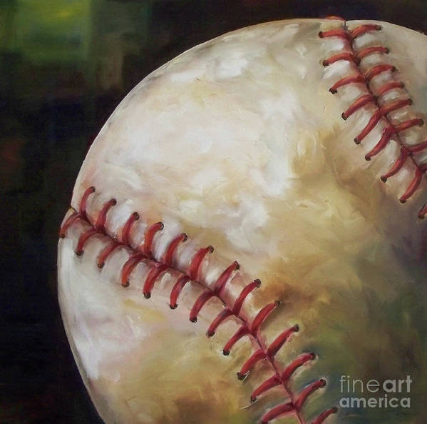 Baseball Art Print featuring the painting Play Ball by Kristine Kainer