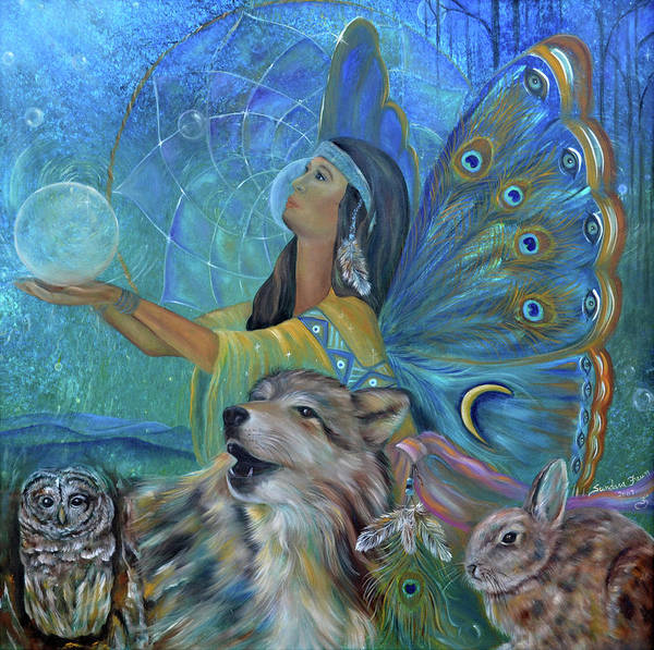Native American Art Print featuring the painting Purification by Sundara Fawn