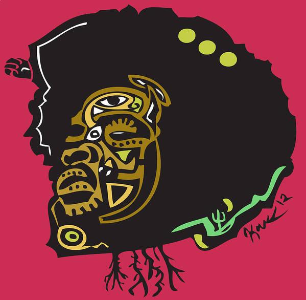 Theroots Print featuring the digital art Questlove by Kamoni Khem