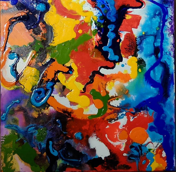Rainbow Art Print featuring the painting Seahorse Emerging by Gail Goren