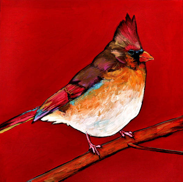Wildlife Art Print featuring the painting Red Lady by Johnathan Harris