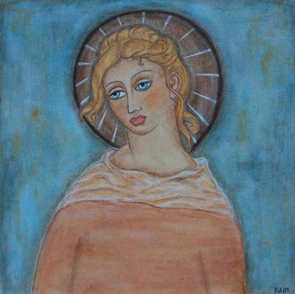 Paintings Art Print featuring the painting Sacred Angel by Rain Ririn