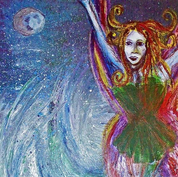 Fairy Art Print featuring the painting Sea Sprite by Jennifer Addington