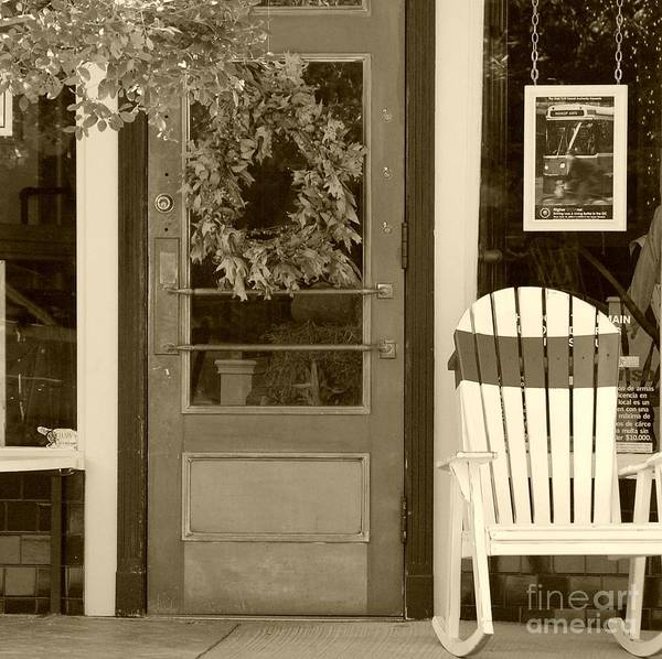 Rocking Chair Art Print featuring the photograph Simple Times by Debbi Granruth