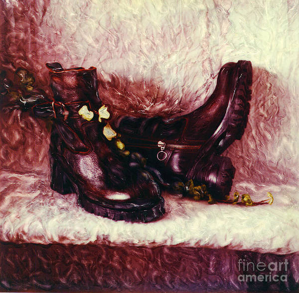 Shoes Art Print featuring the photograph Still Life With Winter Shoes - 1 by Renata Ratajczyk