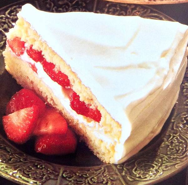 Art Print featuring the photograph Strawberry Short Cake by Jacqueline Manos