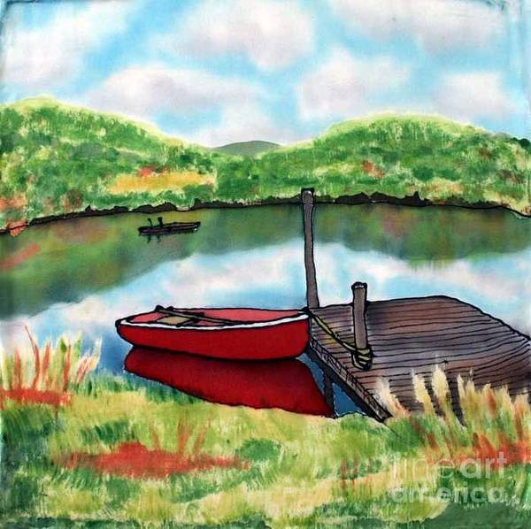 Summer Art Print featuring the painting Sumer Reflections by Linda Marcille