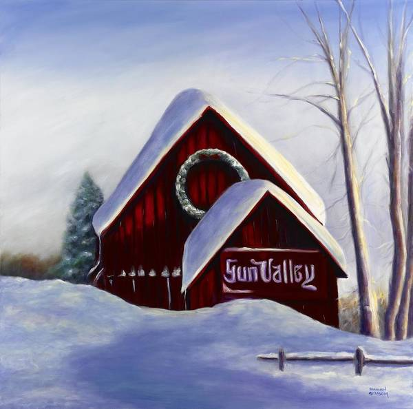 Landscape Art Print featuring the painting Sun Valley 3 by Shannon Grissom