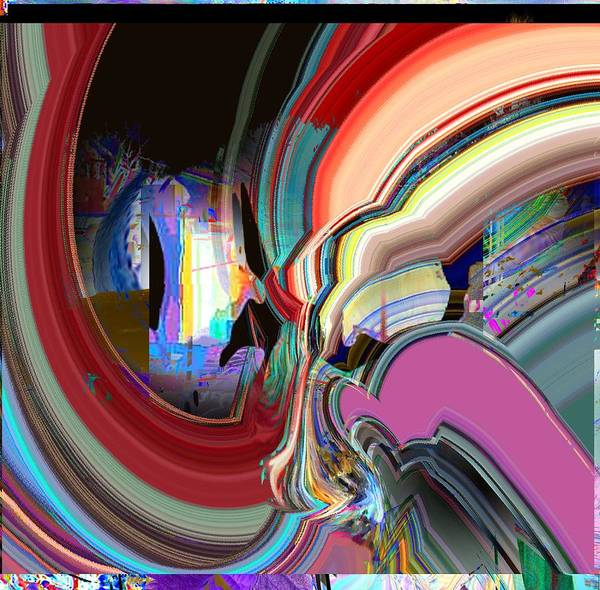 Abstract Art Print featuring the digital art Swirl by Dave Kwinter