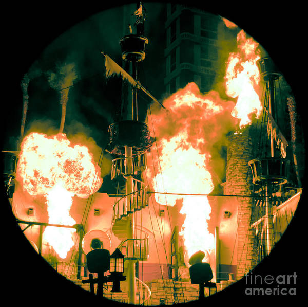 Las Vegas Art Print featuring the photograph Target In Flames by Andy Smy