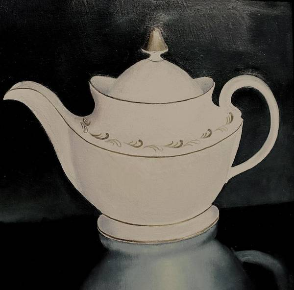 Still Life Art Print featuring the painting Tea Pot by Keith Bagg