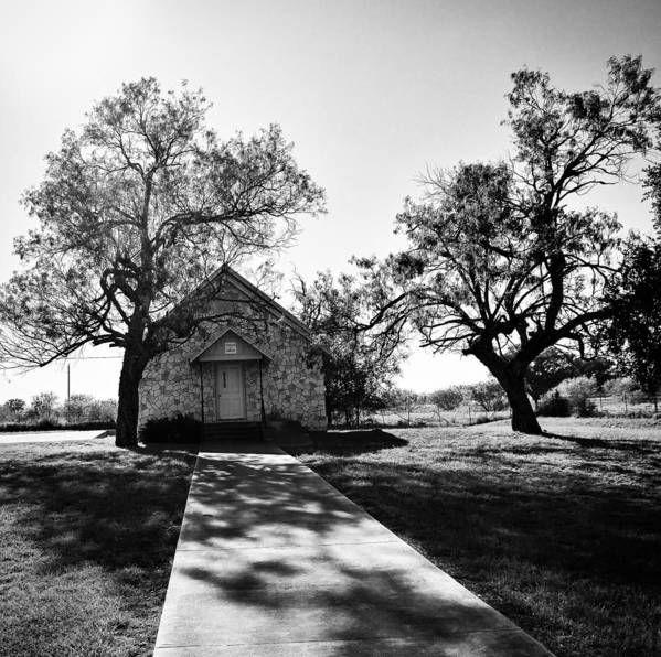 Black Art Print featuring the photograph Texas Country Church by Rancher's Eye Photography