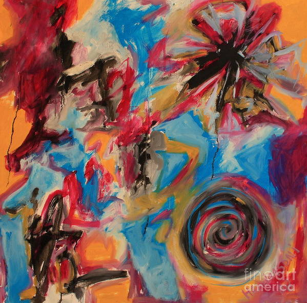 Abstract Art Print featuring the painting The Creation by Michael Henderson