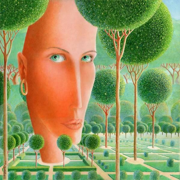 Giuseppe Mariotti Art Print featuring the painting The Garden by Giuseppe Mariotti