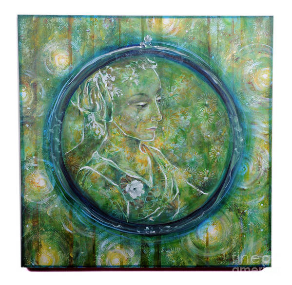 Art Print featuring the painting The Music Behind Her Shadow by Lynda McLaughlin