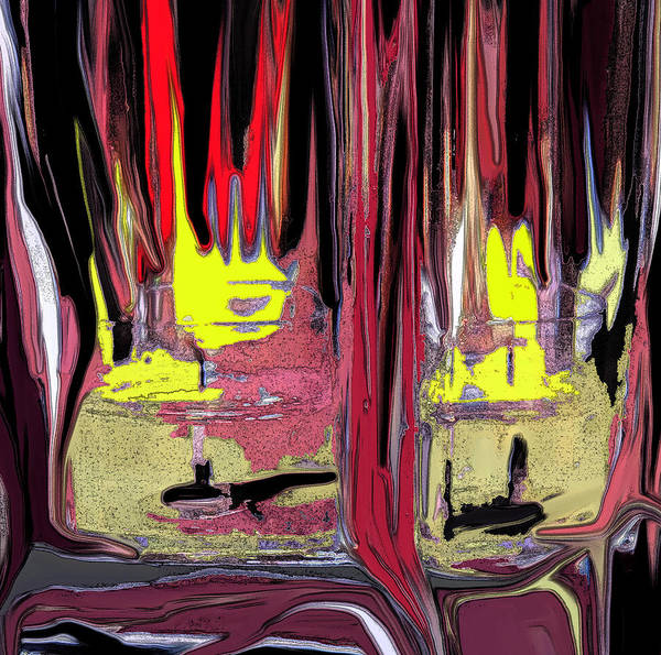 Abstract Art Print featuring the digital art The Party by Ian MacDonald