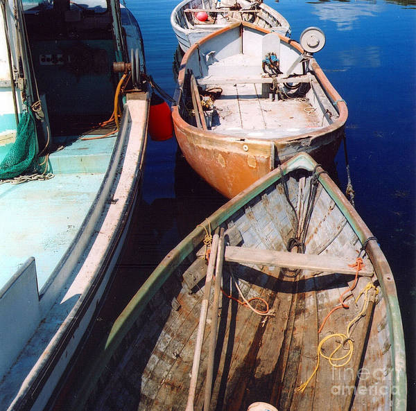Boats Art Print featuring the photograph Three Boats by Andrea Simon