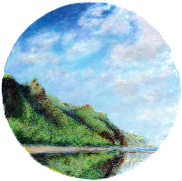 Coastal Decor Art Print featuring the painting Tondo by Kenneth Grzesik