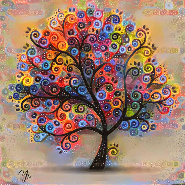 Flower Art Print featuring the digital art Tree Of Paradise 1 by Yury Malkov