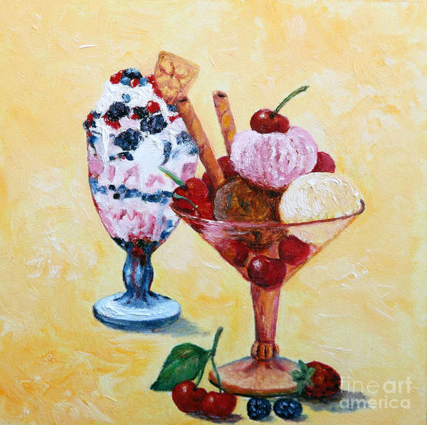 Food Art Print featuring the painting Tutti Frutti II by Enzie Shahmiri
