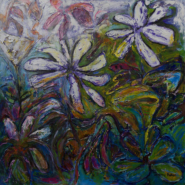 Flowers Art Print featuring the painting Undergrowth by Jeremy Holton