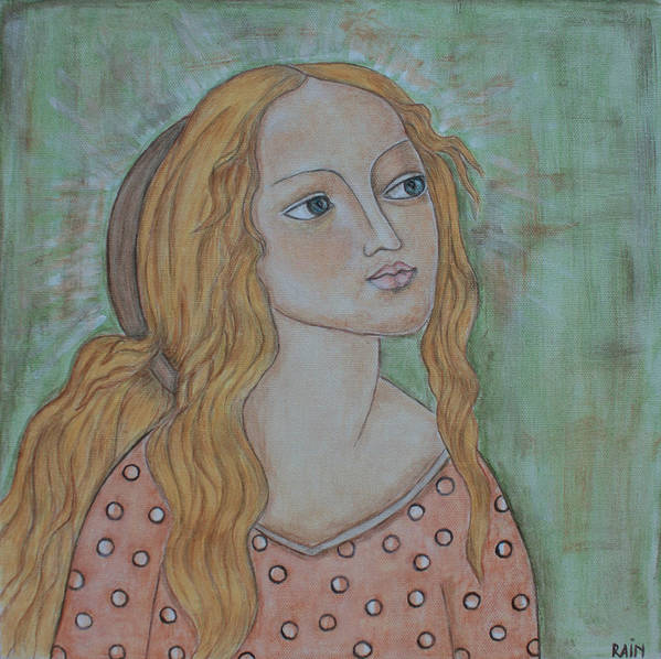 Paintings Art Print featuring the painting Waiting by Rain Ririn