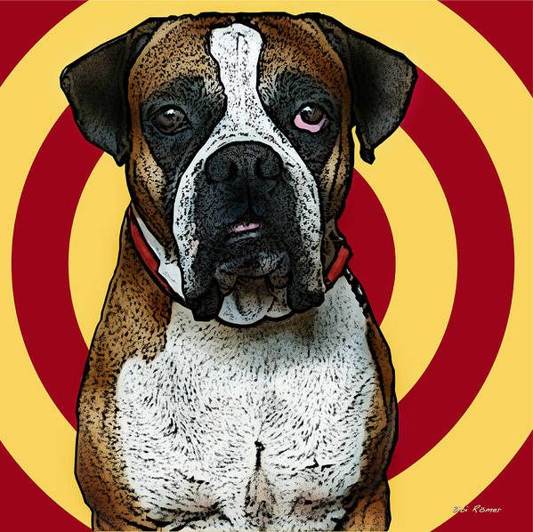 Digital Art Art Print featuring the photograph Wild Boxer 2 by Bibi Romer