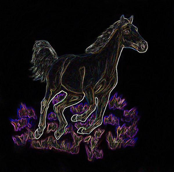 Art Print featuring the digital art Wild Palomino by Crystal Suppes